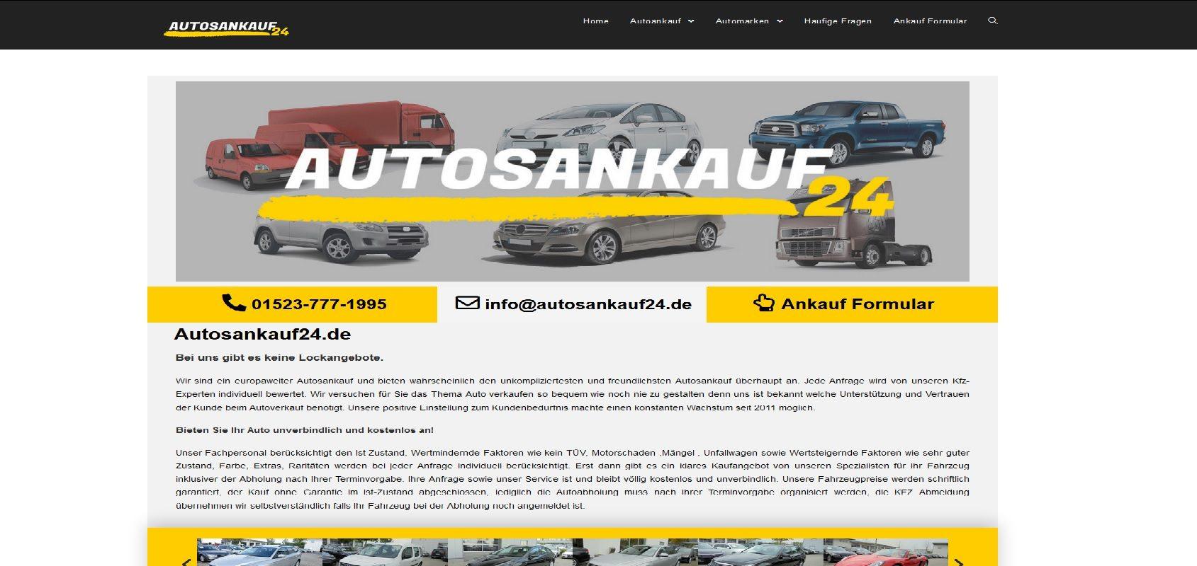 autosankauf24.de Autoankauf Motorschaden Ankauf